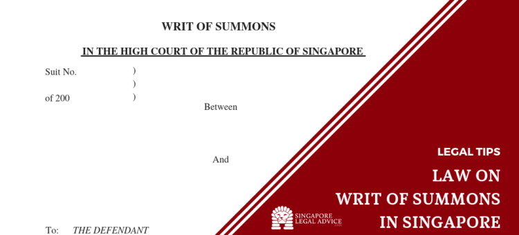 Writ of summons headings