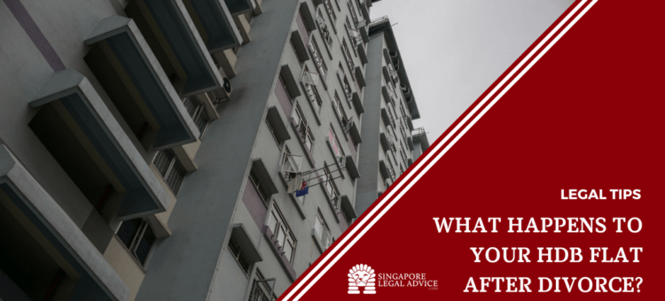 "Featured image for the ""What Happens to Your HDB Flat after Divorce?"" article. It features a block of greyed out HDB flats."