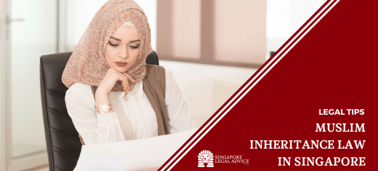 "Featured image for the ""Muslim Inheritance Law in Singapore"" article. It features a Muslim woman thinking as she looks at a draft of her will."