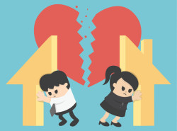 54179191 - illustration relationship divorce,division of property