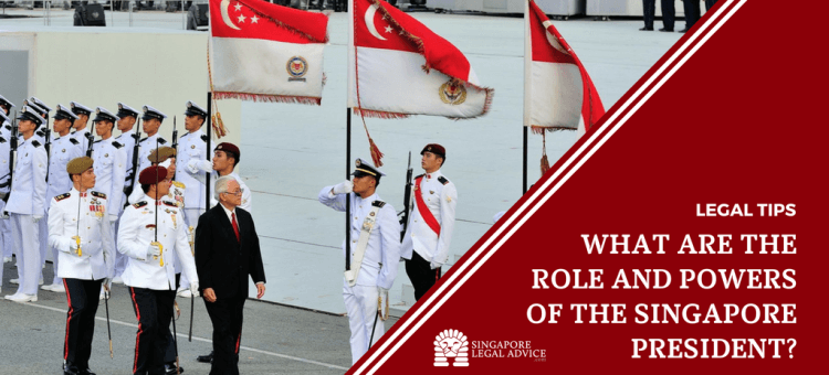 "Featured image for the ""What are the roles and powers of the Singapore President?"" article. It features Singapore President Tony Tan at a National Day Parade."