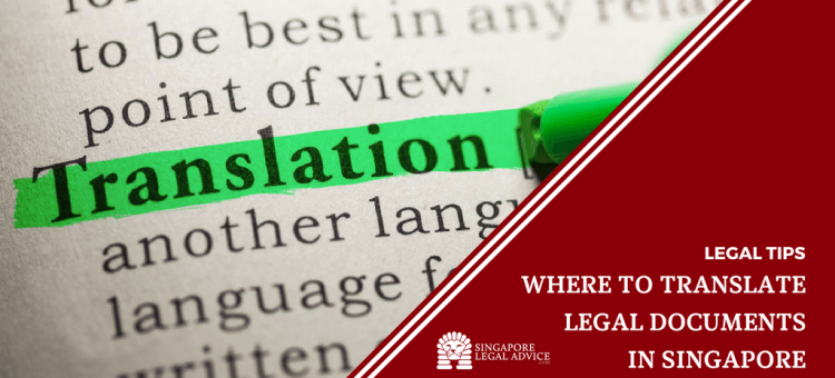 "Featured image for the ""Where to Translate Legal Documents in Singapore"" article. It features a dictionary entry of the word ""Translation"", where ""Translation"" has been highlighted in green."