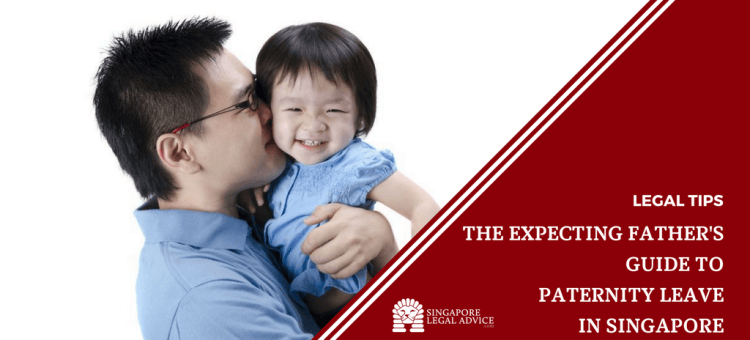 "Featured image for the ""The Expecting Father's Guide to Paternity Leave in Singapore"" article. It features a young new father kissing his smiling young daughter."