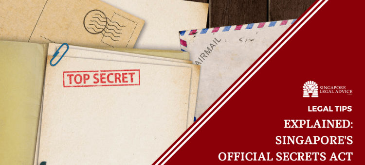 "Featured image for the ""Explained: Singapore's Official Secrets Act"" article. It features a pile of confidential documents."