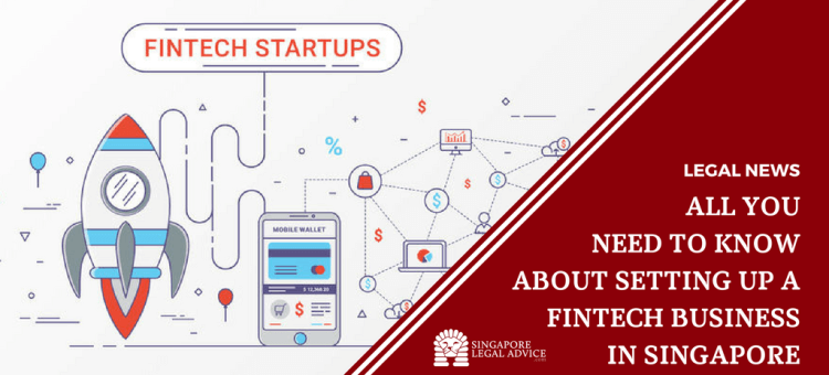 "Featured image for the ""All You Need to Know About Setting Up a Fintech Business in Singapore"" article. It features a graphic of fintech startups."