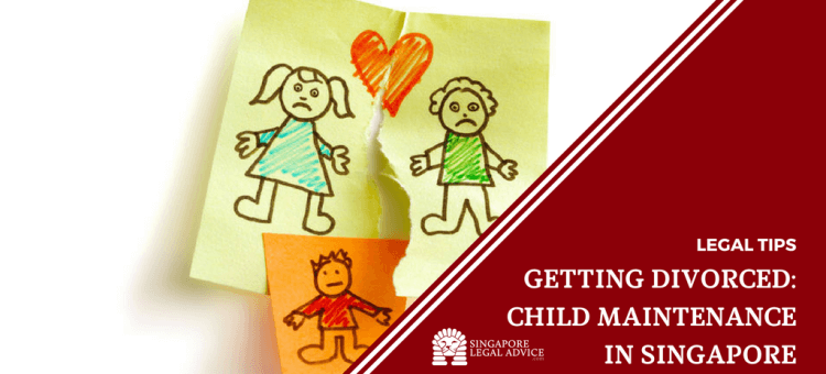 "Featured image for the ""Getting Divorced: Child Maintenance in Singapore"" article. It features a drawing of a broken family."