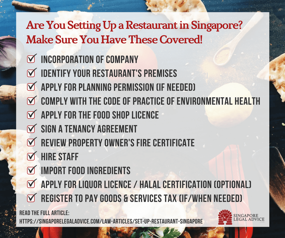 Legal Checklist for Setting Up a Restaurant in Singapore