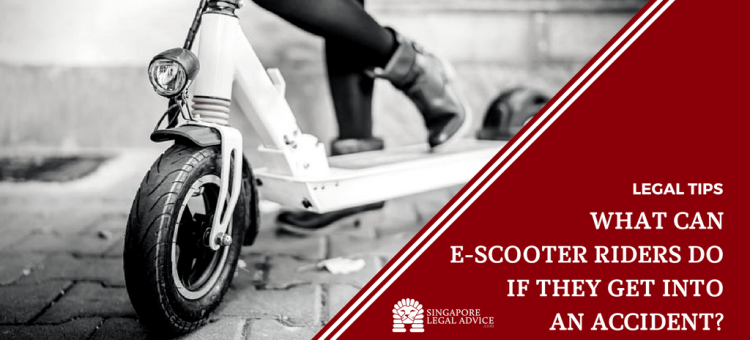 "Featured image for the ""What Can E-Scooter Riders Do If They Get Into an Accident?"" article. It features a woman on an e-scooter."