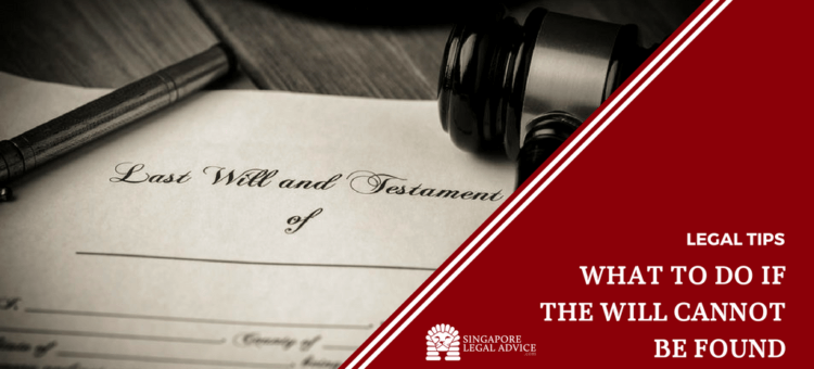"Featured image for the ""What to Do If the Will Cannot be Found"" article. It features a last will and testament."