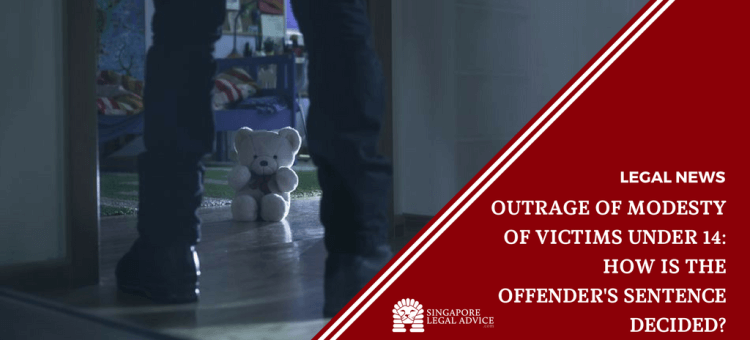 "Featured image for the ""Outrage of Modesty of Victims Under 14: How is the Offender's Sentence Decided?"" article. It features a man standing in front of a darkened room. There is a teddy bear on the floor."