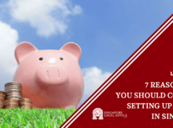"Featured image for the ""7 Reasons Why You Should Consider Setting Up a Trust in Singapore"" article. It features a piggy bank in a field, set against a clear blue sky. There are coins next to the piggy bank."