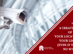 "Featured image for the ""8 Creative Ways of Proving Your Location for Your Legal Case (Even if You Have No Witnesses)"" article. It features a CCTV camera."