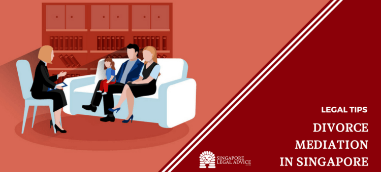 "Featured image for the ""Divorce Mediation in Singapore"" article. It features a family in a mediation session with a professional."