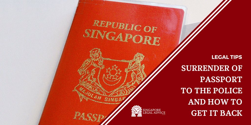 Surrender Of Passport To The Police And How To Get It Back