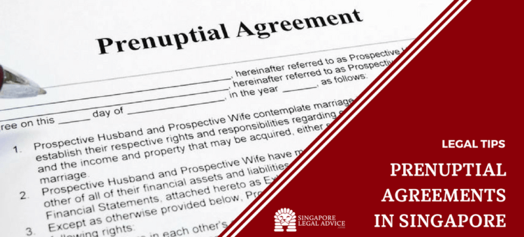 "Featured image for the ""Prenuptial Agreements in Singapore"" article. It features a close up of a person signing a prenuptial agreement."