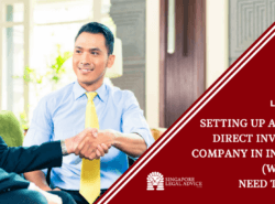 "Featured image for the ""Setting Up a Foreign Direct Investment Company in Indonesia (What You Need to Know)"" article. It features two indonesian businessmen shaking hands."