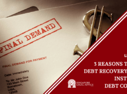 "Featured image for the ""3 Reasons to Hire a Debt Recovery Lawyer Instead of a Debt Collector"" article. It features a letter stamped with the words ""FINAL DEMAND"" on the top."