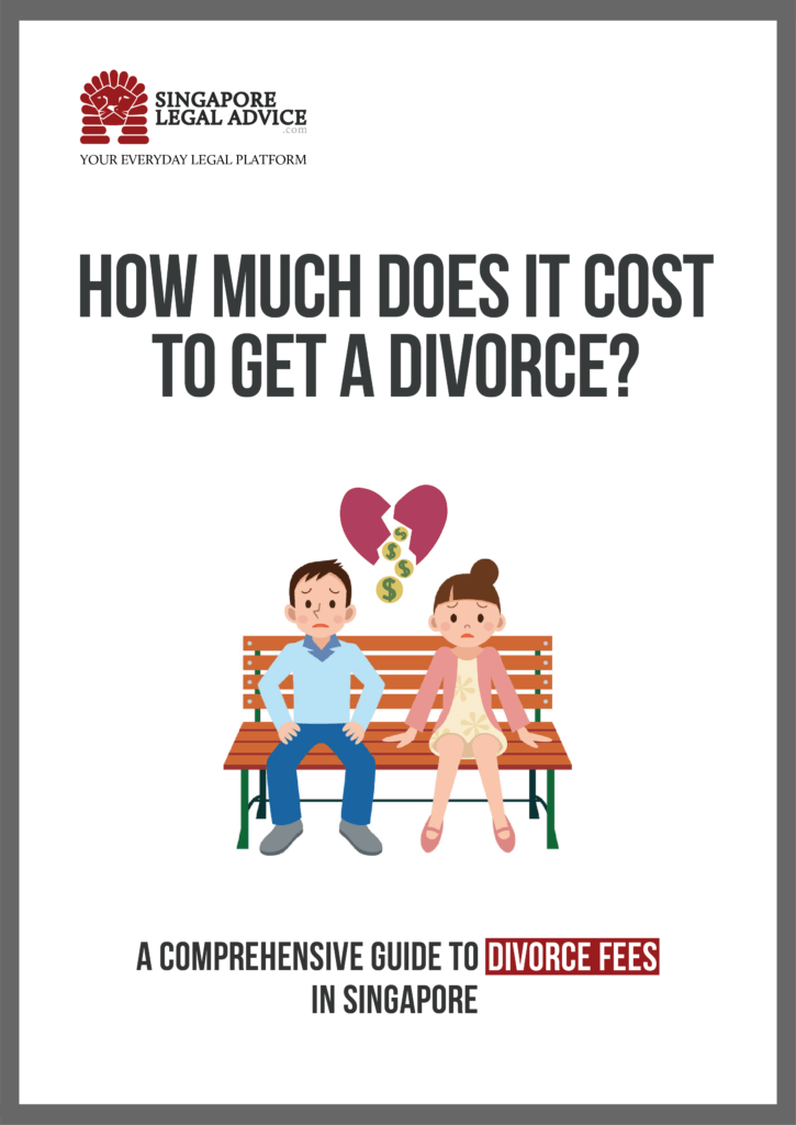 The cover of SingaporeLegalAdvice.com's divorce fee guide.