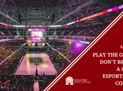 "Featured image of the ""Play the Game But Don't Be Played_ A Guide to Esports Player Contracts"" article. It features an esports arena."