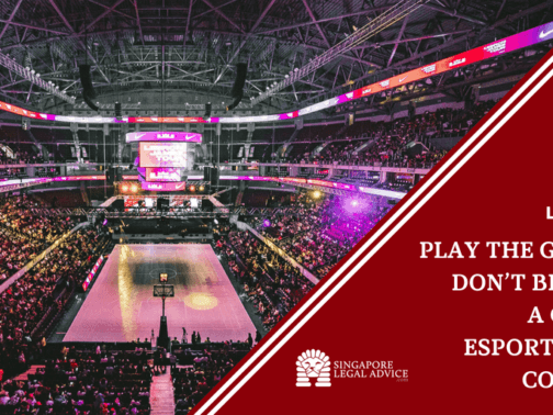 """Featured image of the """"Play the Game But Don't Be Played_ A Guide to Esports Player Contracts"""" article. It features an esports arena."""
