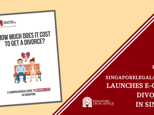 """The cover of the """"How Much Does It Cost to Get a Divorce? A Comprehensive Guide to Divorce Fees in Singapore"""" divorce fee guide by SingaporeLegalAdvice.com."""