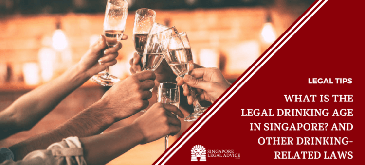 "Featured image for the ""What is the Legal Drinking Age in Singapore_ And Other Drinking-Related Laws"" article. It features a group clinking glasses of alcohol."