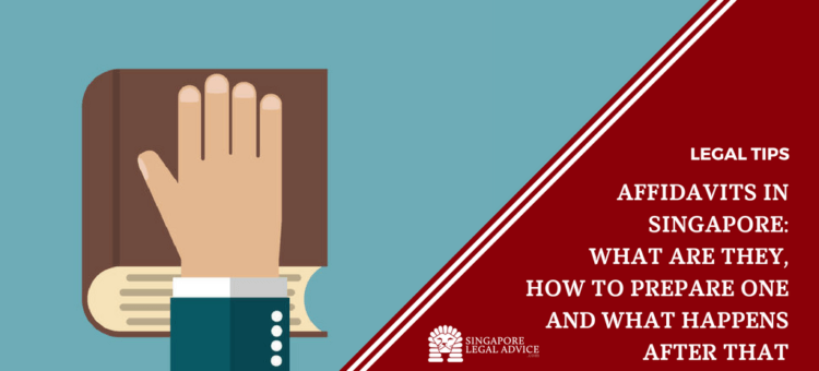 """Featured image for the """"Affidavits in Singapore: What are They, How to Prepare One and What Happens After That"""" article. It features a hand placed over a book."""