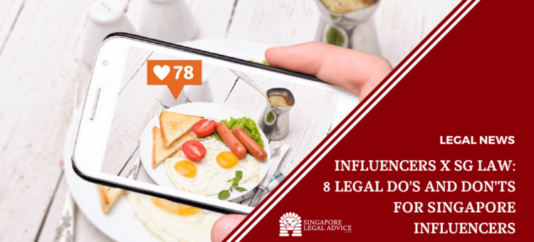 """Featured image for the """"Influencers x SG Law_ 8 Legal Do's and Don'ts for Singapore Influencers"""" article. It features an instagram post."""