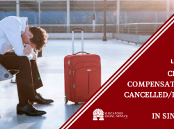 "Featured image for the ""Can You Claim Compensation for Flight Cancellation or Delay in Singapore?"" article. It features a disappointed traveller after receiving news of flight cancellation or delay."