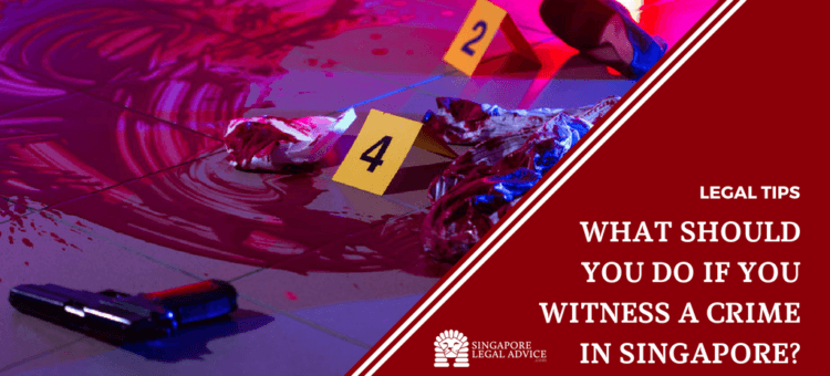 """Featured image for the """"What Should You Do If You Witness a Crime in Singapore?"""" article. It features a crime scene."""