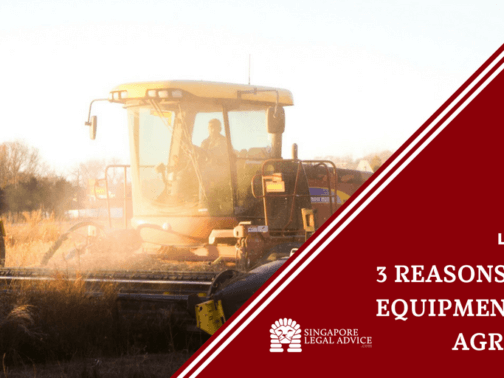 "Featured image for the ""3 Reasons for an Equipment Lease Agreement"" article. It features a farming equipment."
