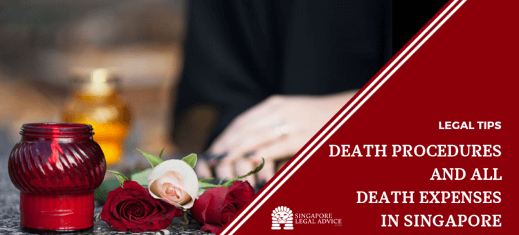 "Featured image for the ""Death Registry, Autopsy and Funeral Expenses in Singapore"" article. It features a woman mourning after a death."