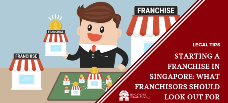 business man with may franchise start-ups.