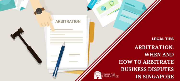 Hand pointing at arbitration contract on a desk