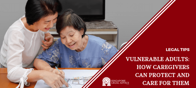 vulnerable adult coloring with caregiver.