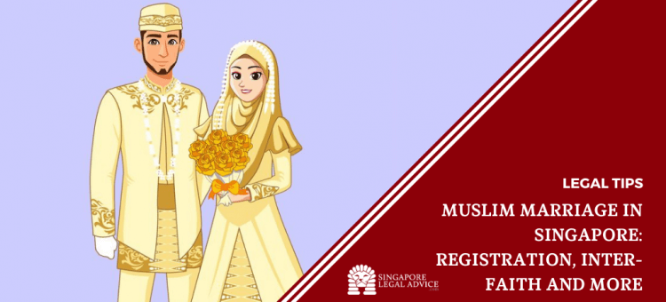 Muslim couple in wedding outfits