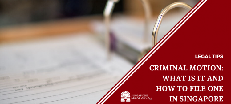 criminal motion documents in file