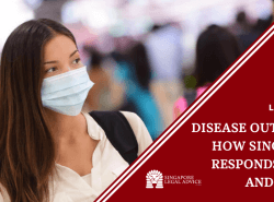 lady wearing mask amidst disease outbreak