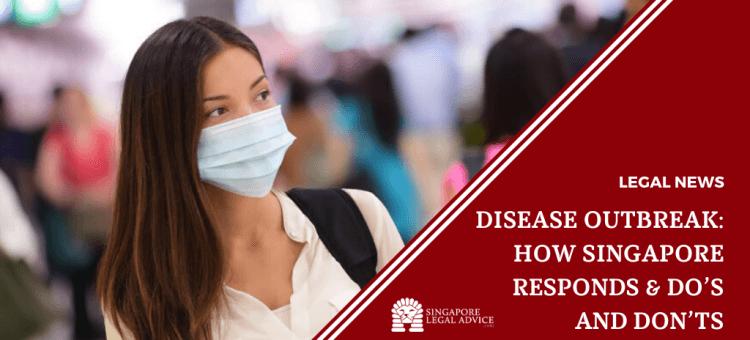 lady wearing mask amidst disease outbreak
