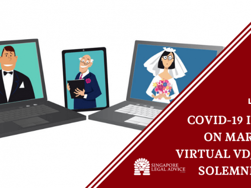 bride and groom getting married virtually