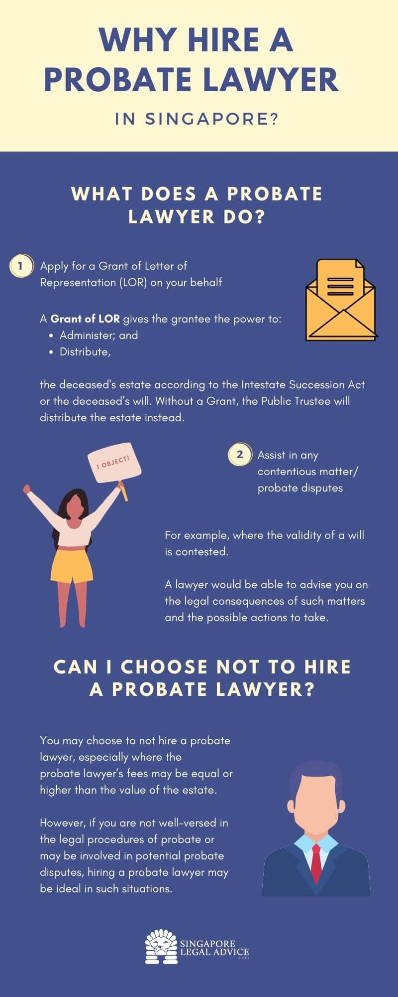 hiring probate lawyer infographic